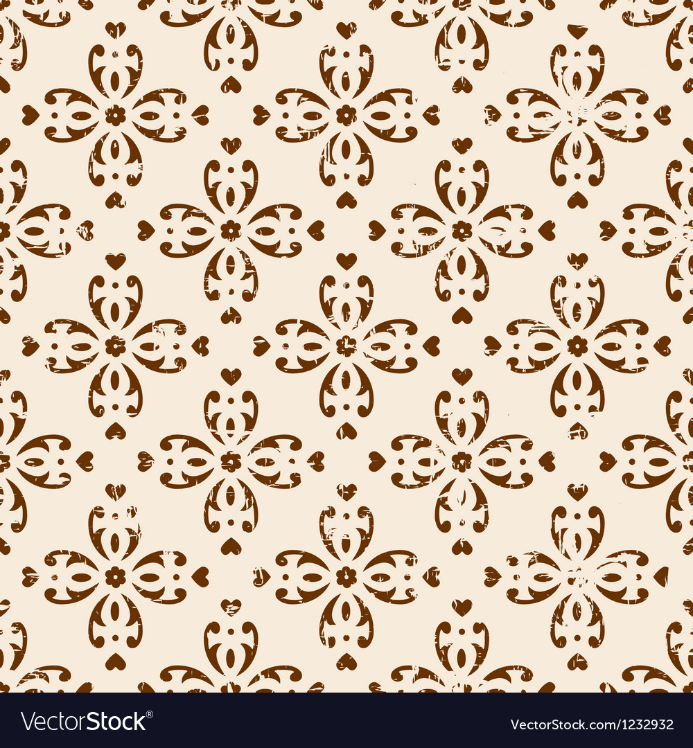 Classic seamless floral ornate background vector