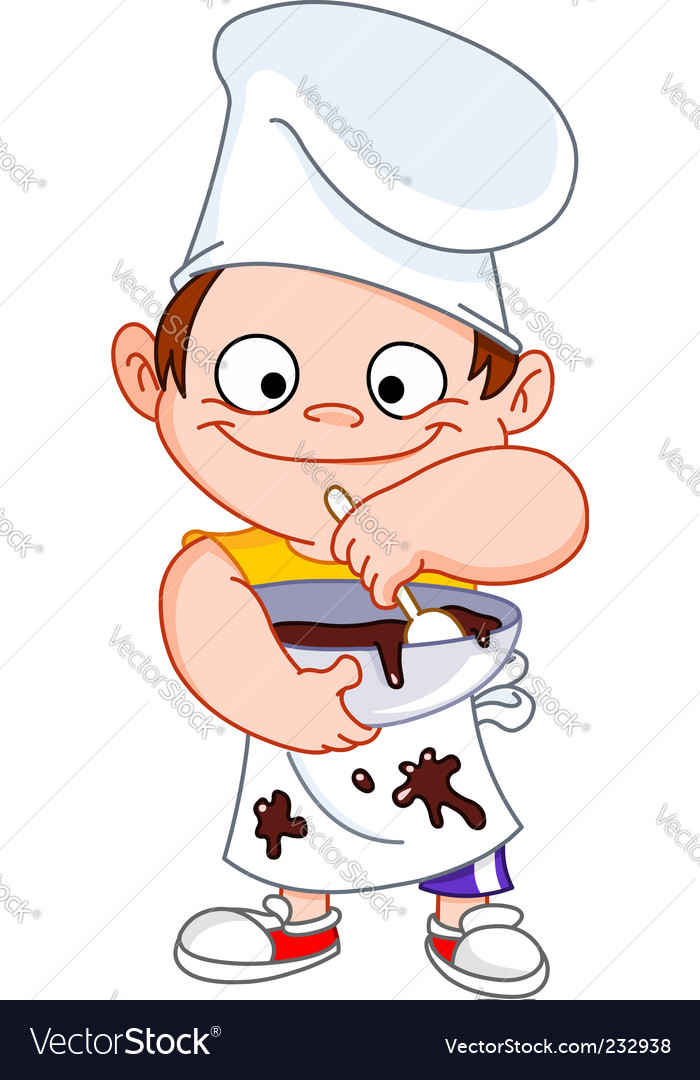 Chef boy vector