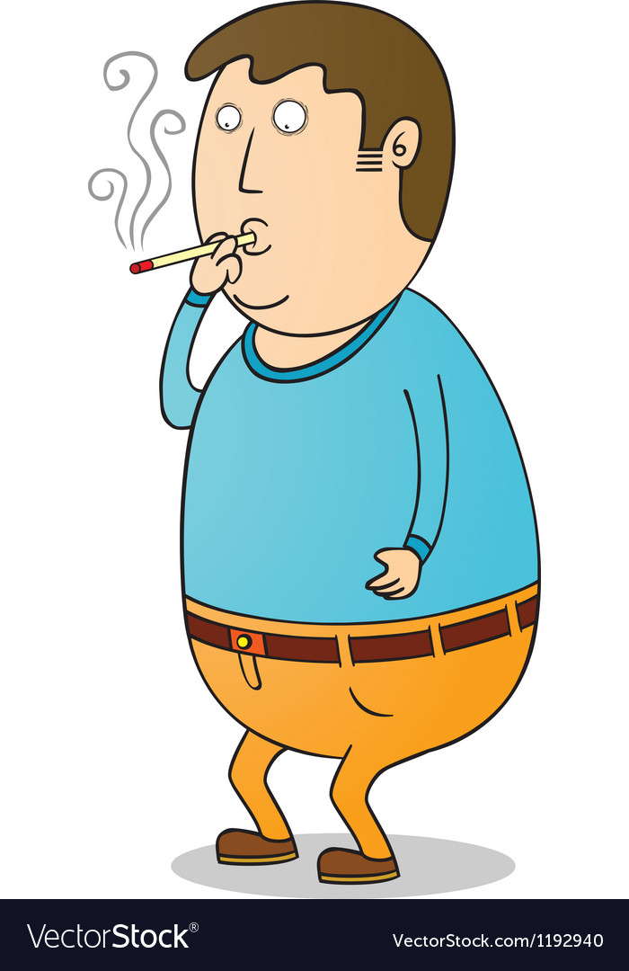 Smoking guy vector