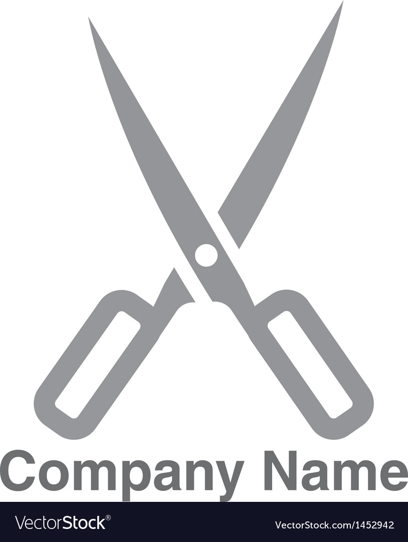 Salon scissors logo vector