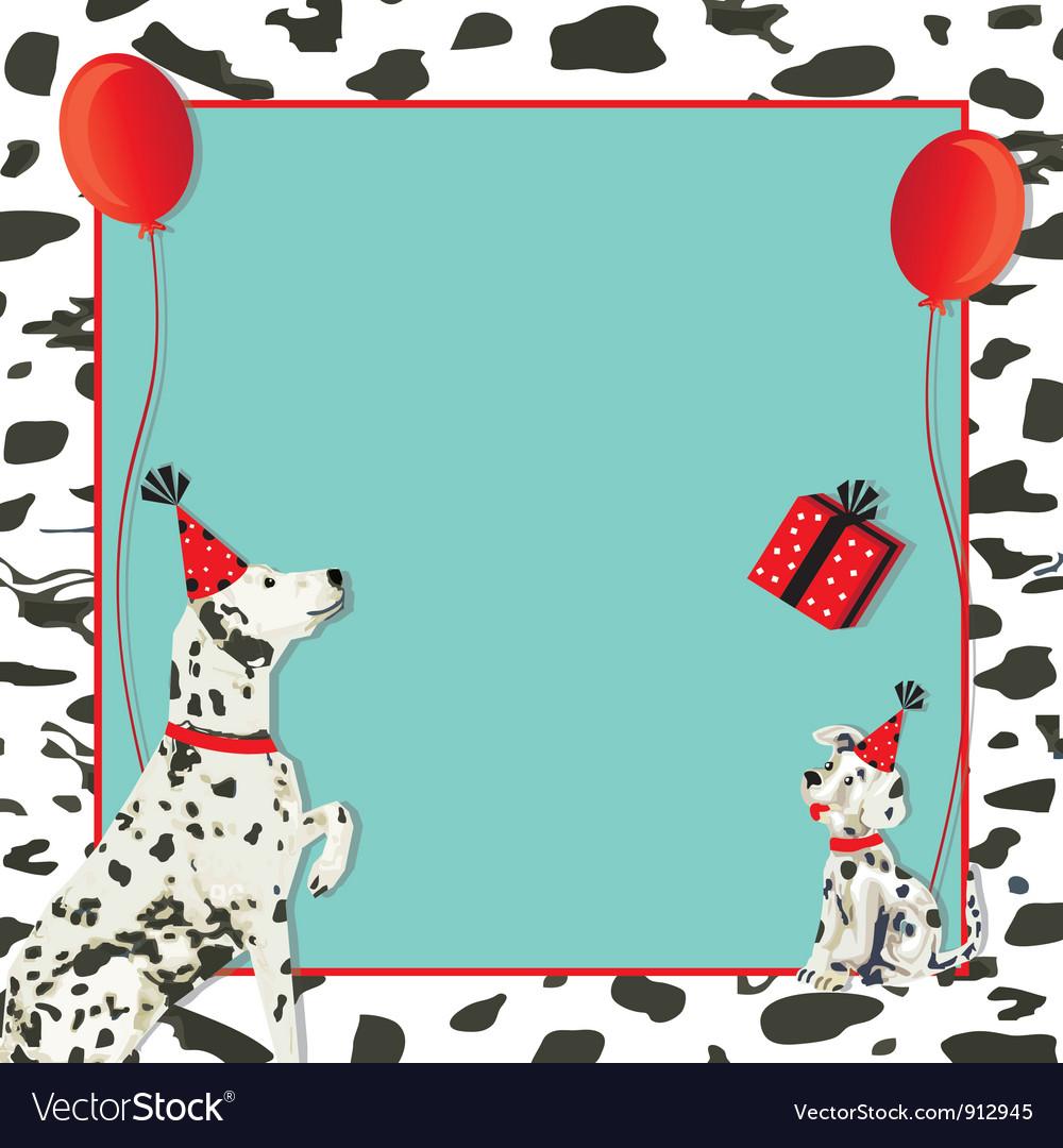 Dalmatian dog invitation vector