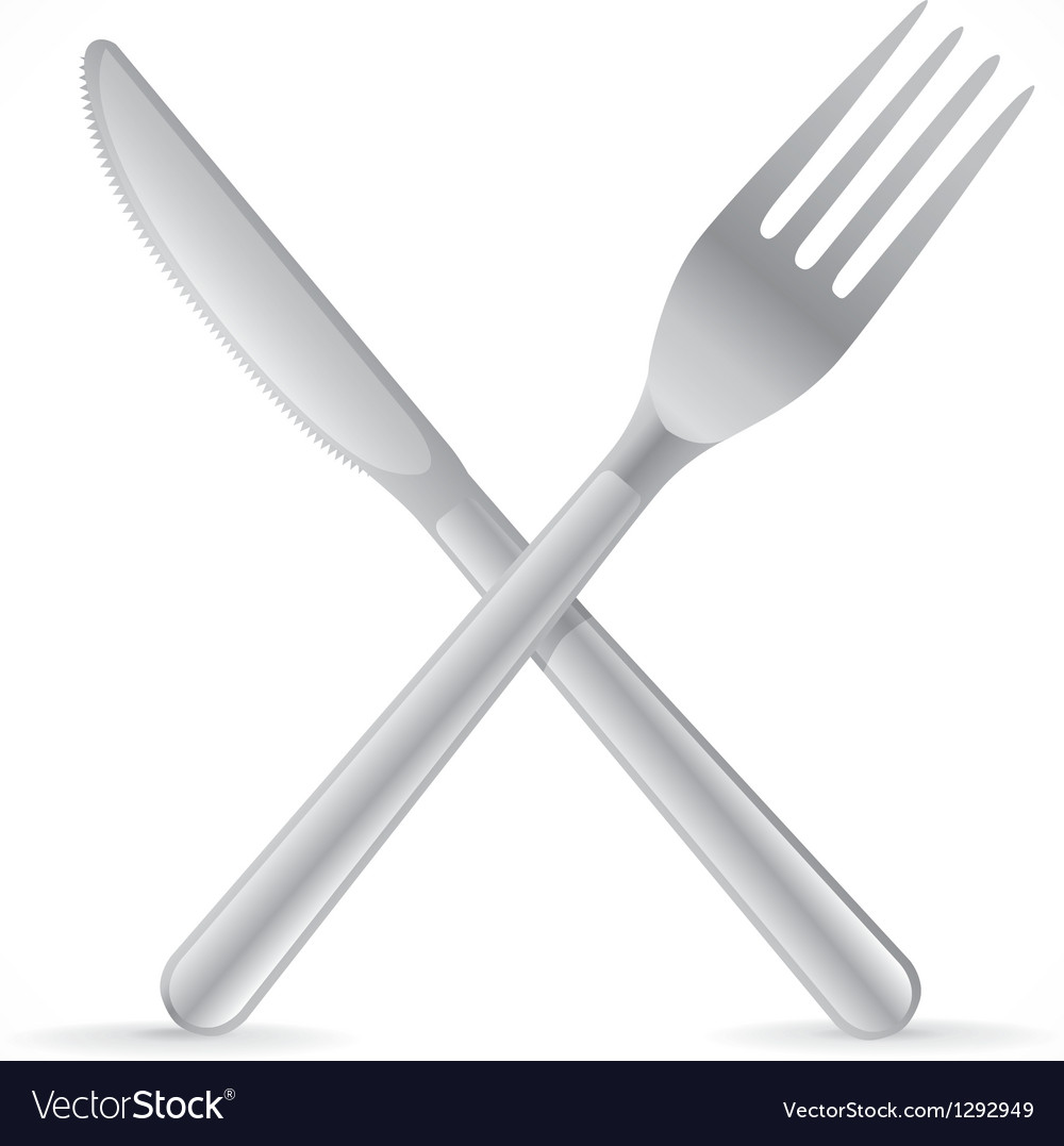 Cutlery crossing vector