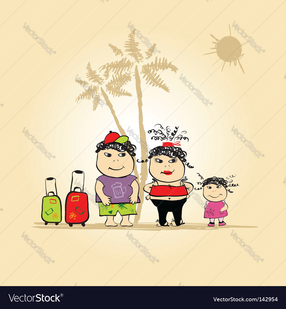 Family holiday vector