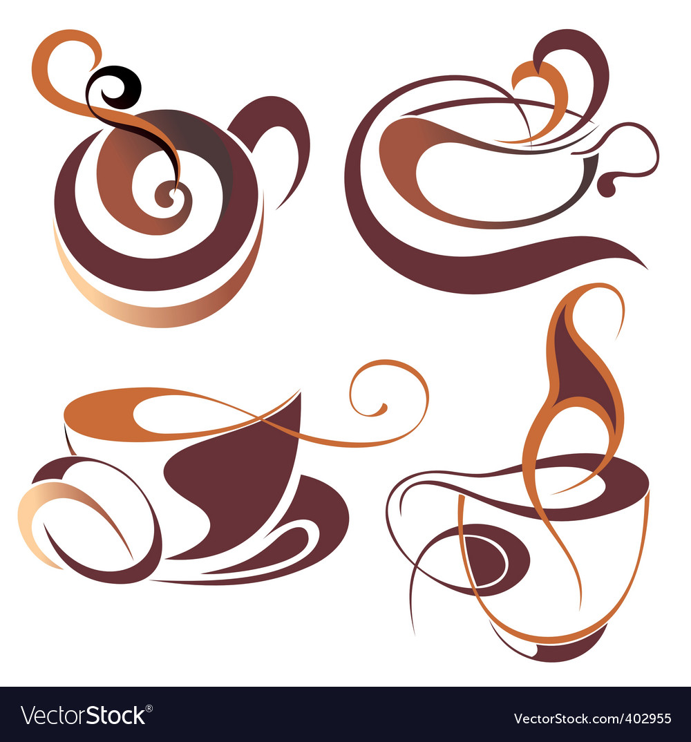 Coffeetea elements for design vector