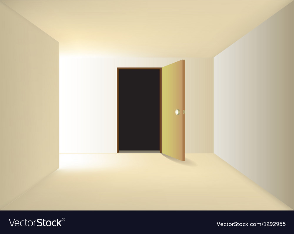 Empty corridor vector