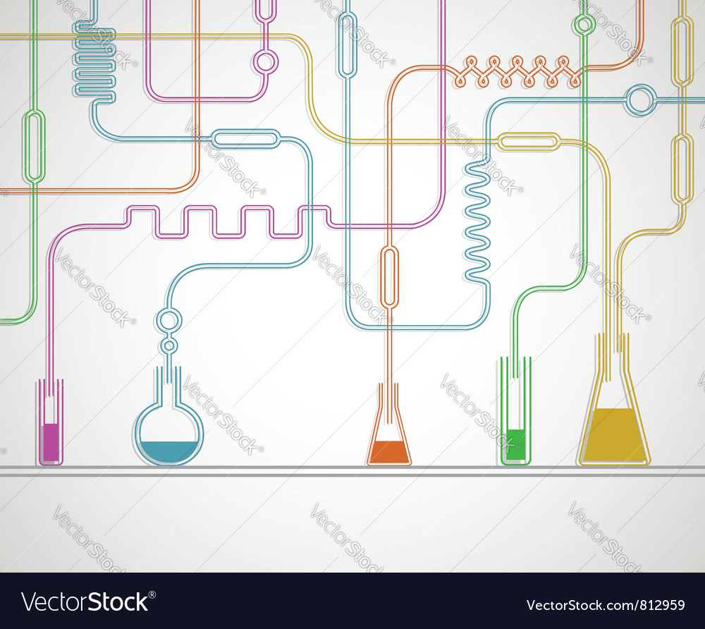 Chemical laboratory vector