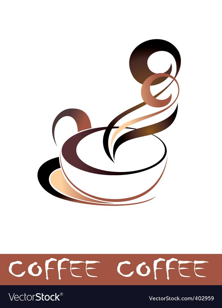 Coffee tea cup vector