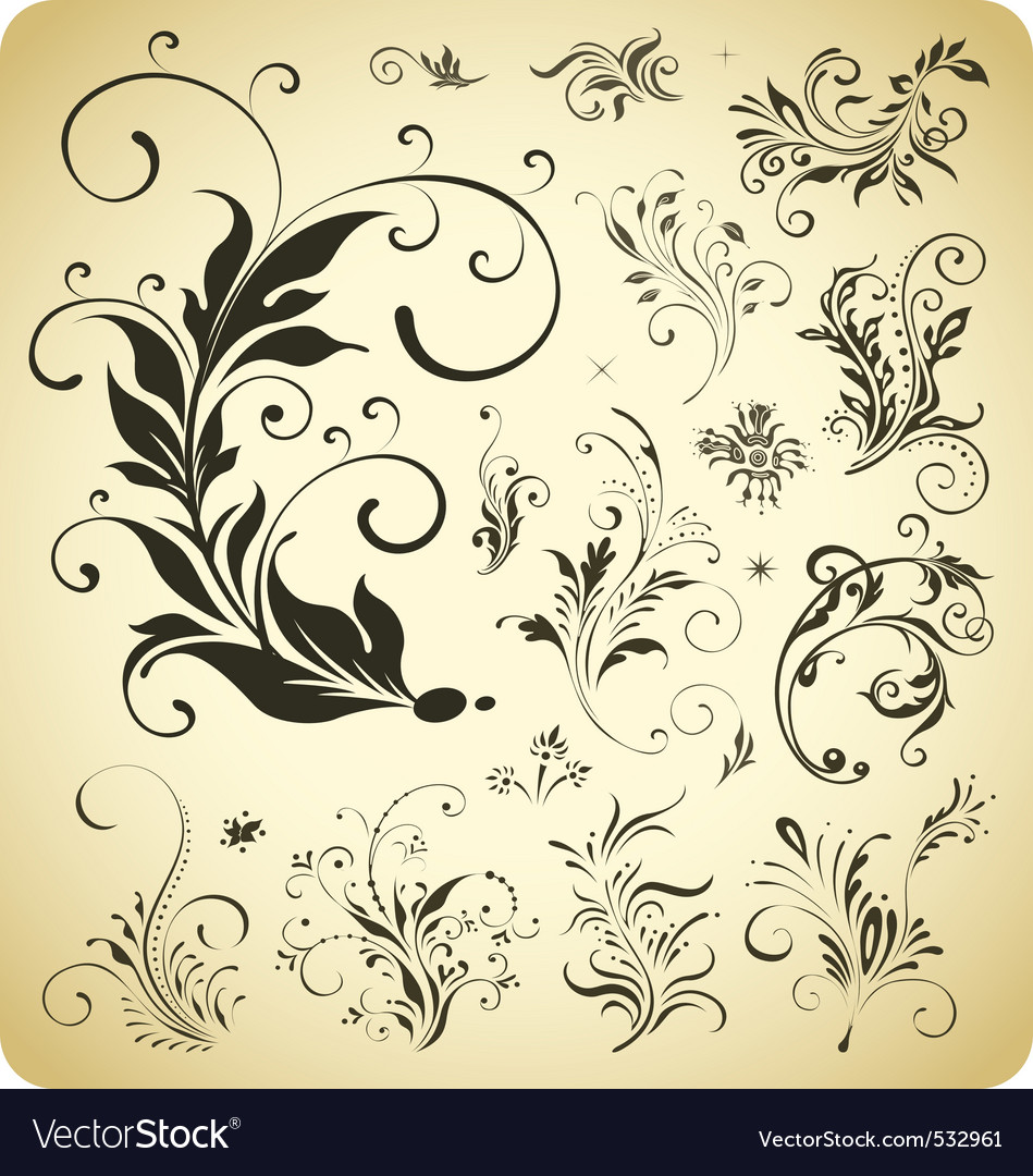 Free design ornament elements vector
