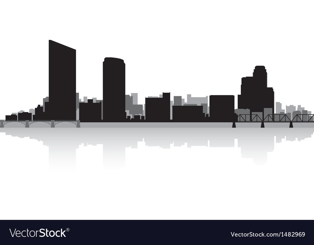 Grand rapids usa city skyline silhouette vector