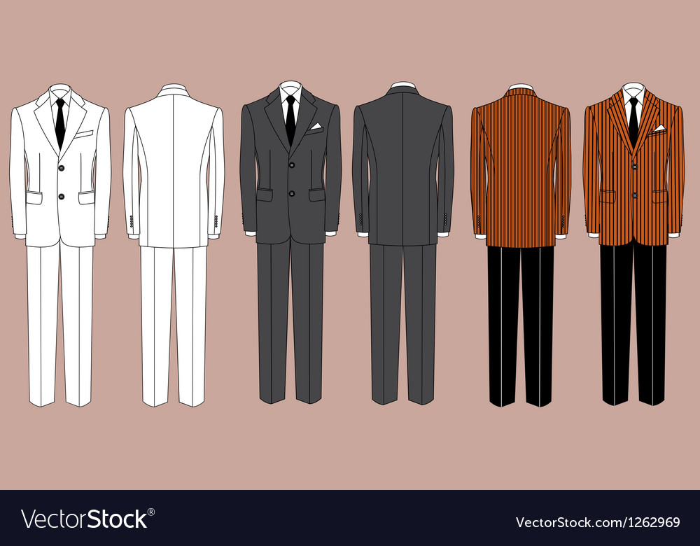 Mans suits for business isolated for design vector