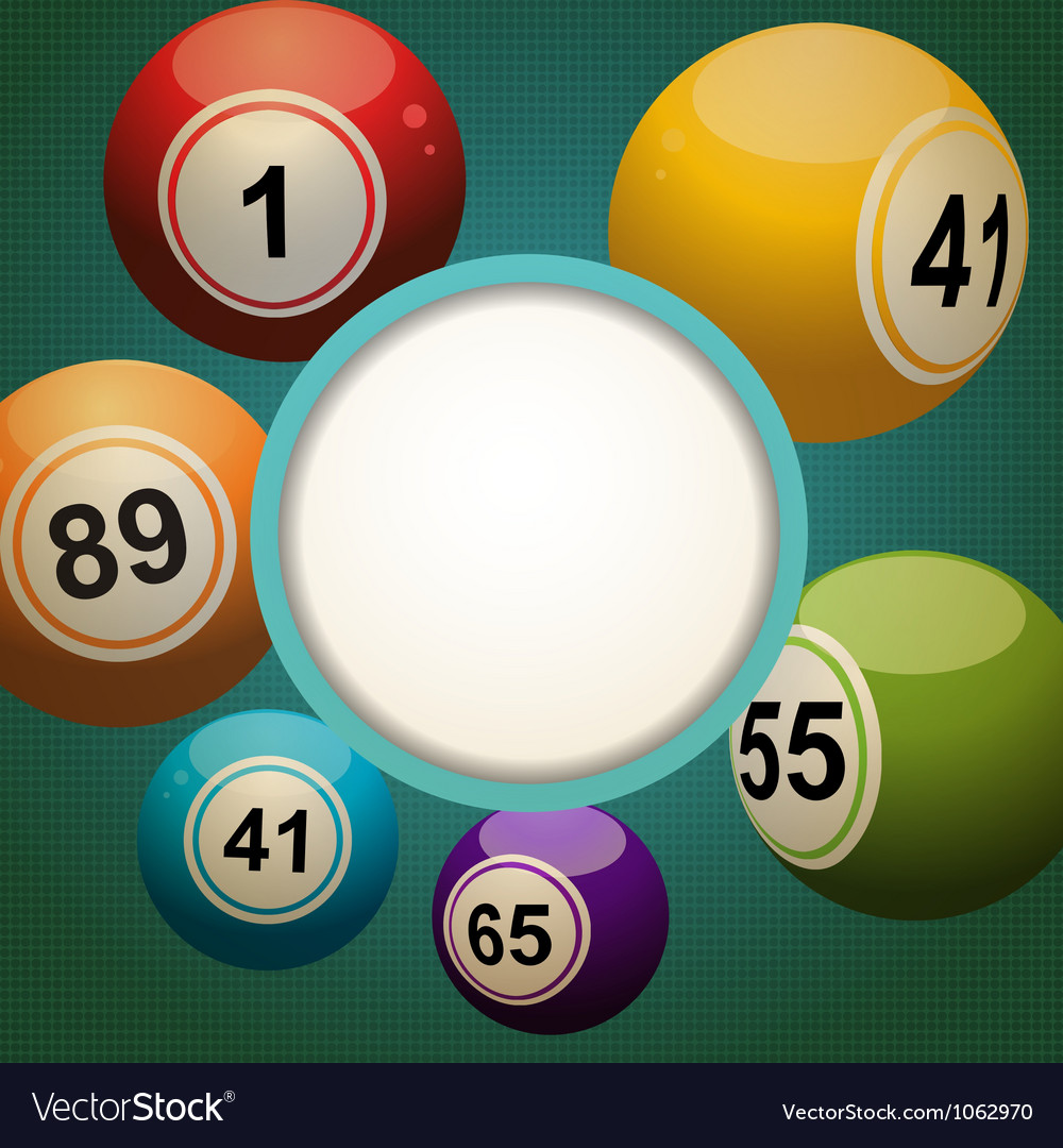 Retro bingo lottery ball background vector
