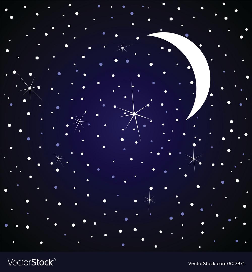 Star sky vector by aleksander1 - Image #802971 - VectorStock