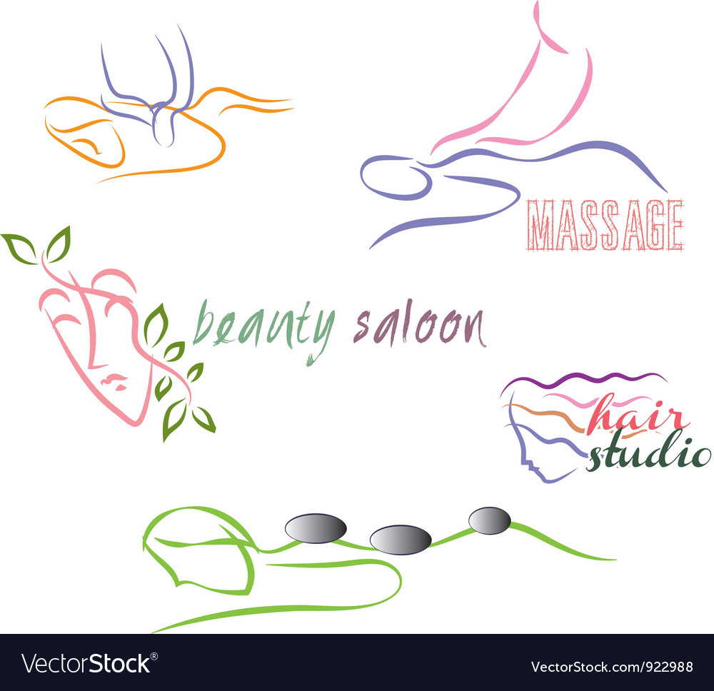 Wellness set vector
