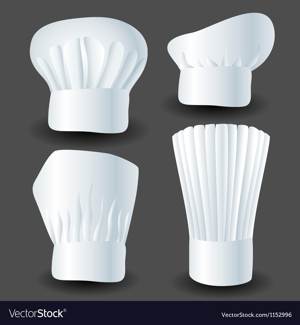 Chef hat set vector