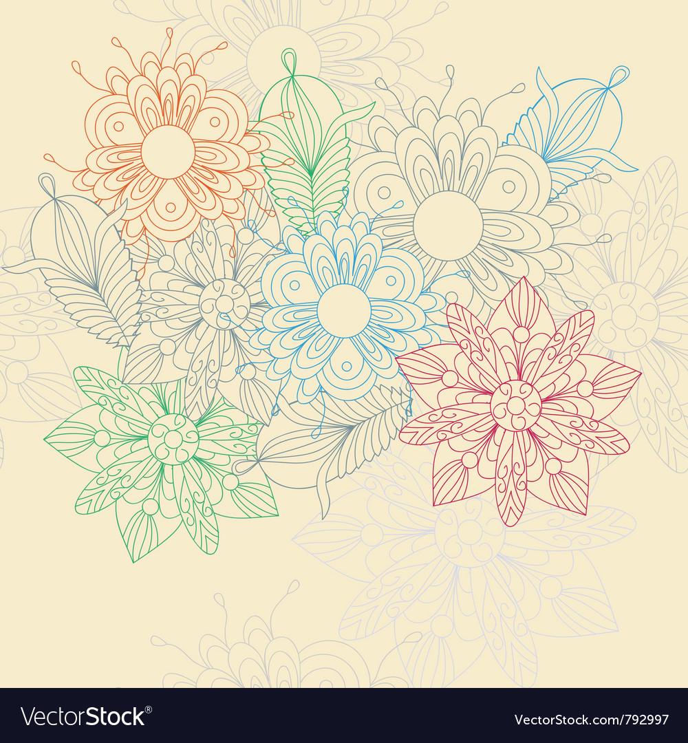 Flower motive vector