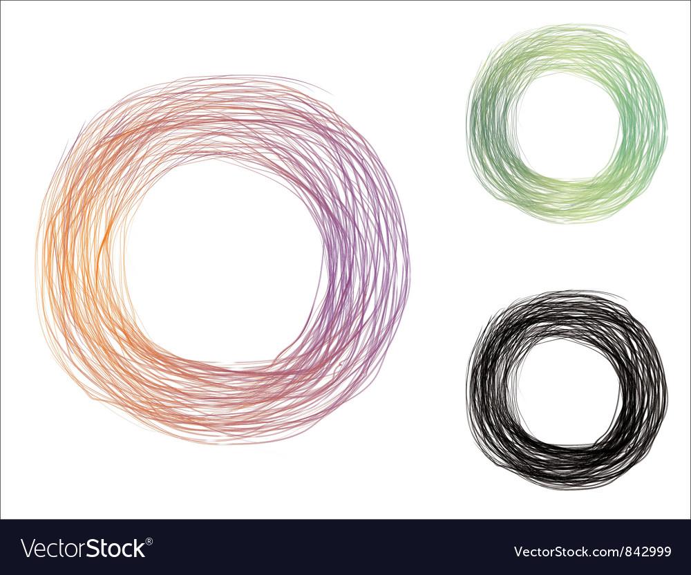 Free scribble circle vector