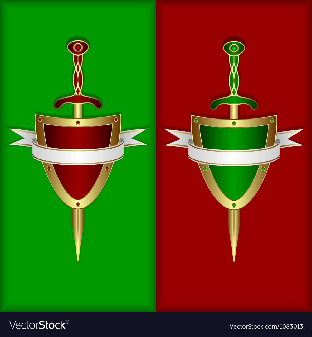 Board sword and banner vector
