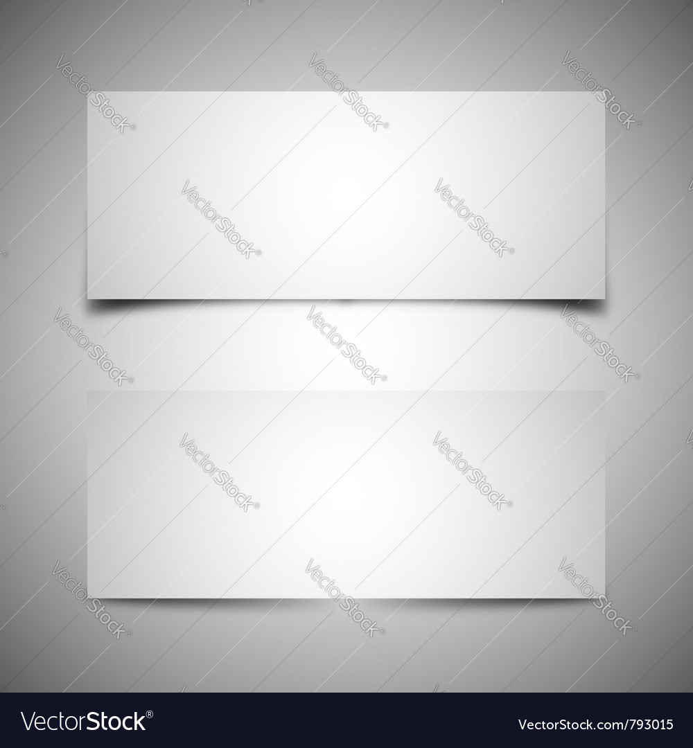 Two box shadows vector
