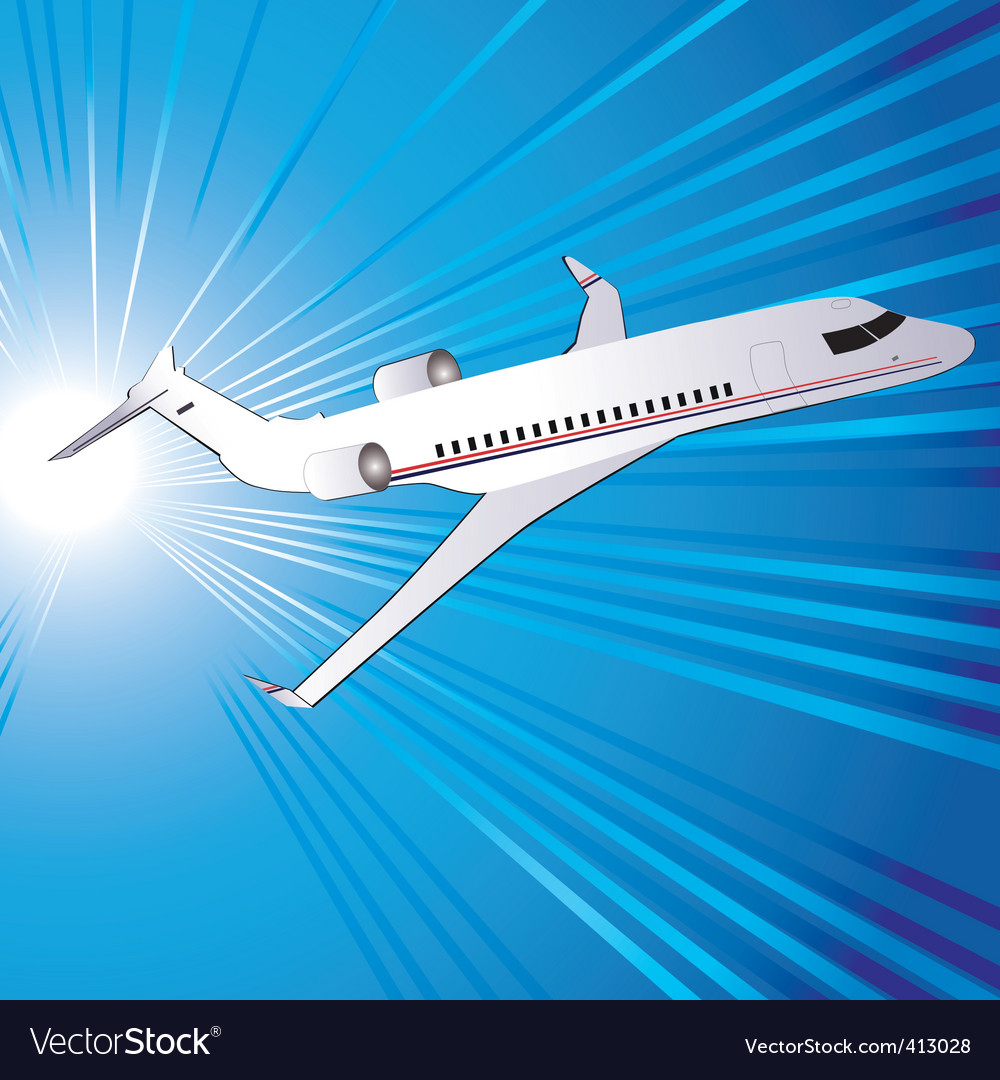 Template with airplane vector