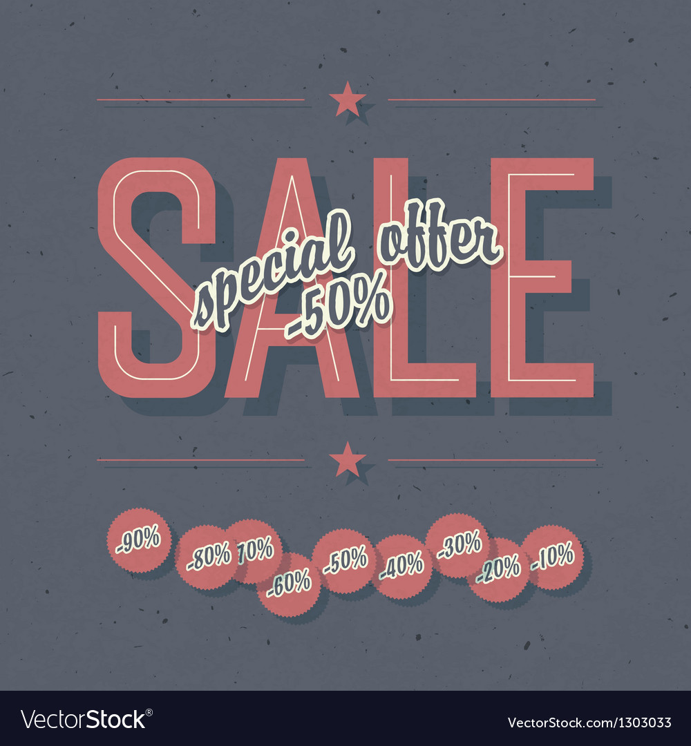 Sale card template vector