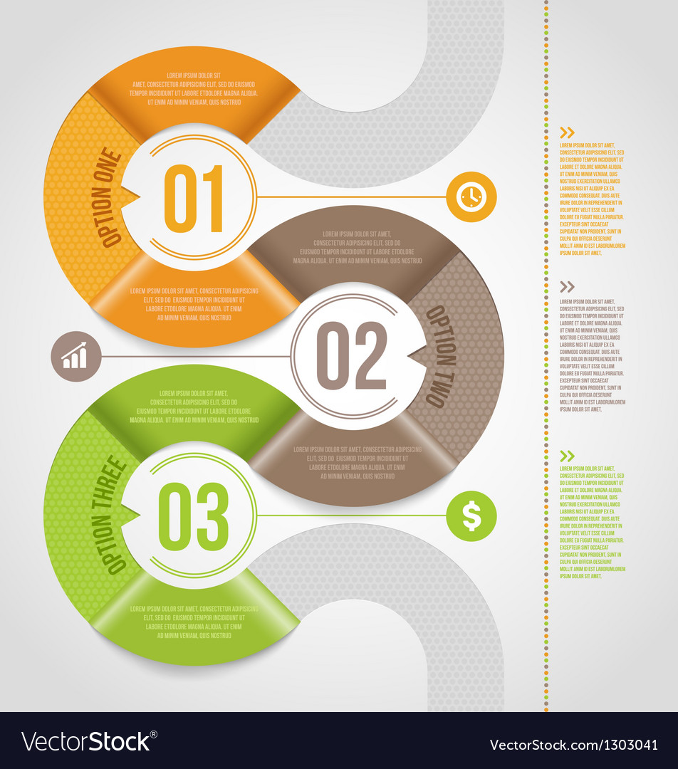 Abstract infographics template design vector