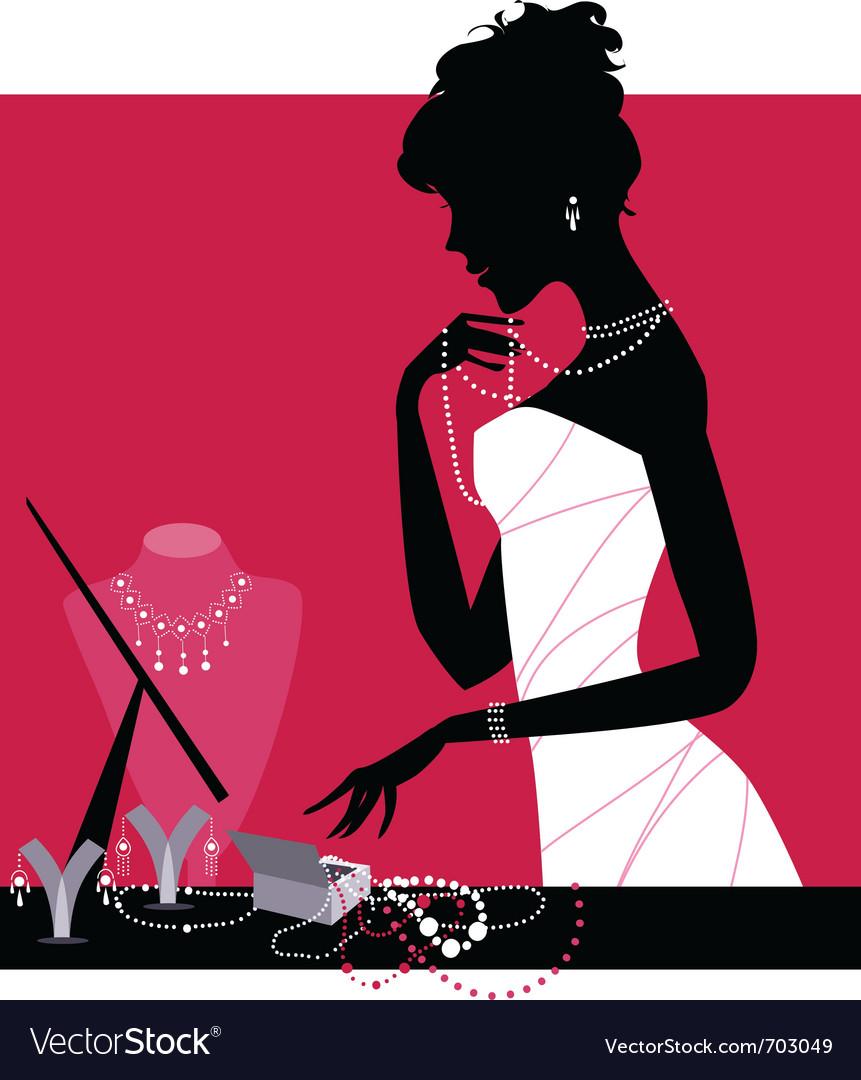 Jewelery shop vector