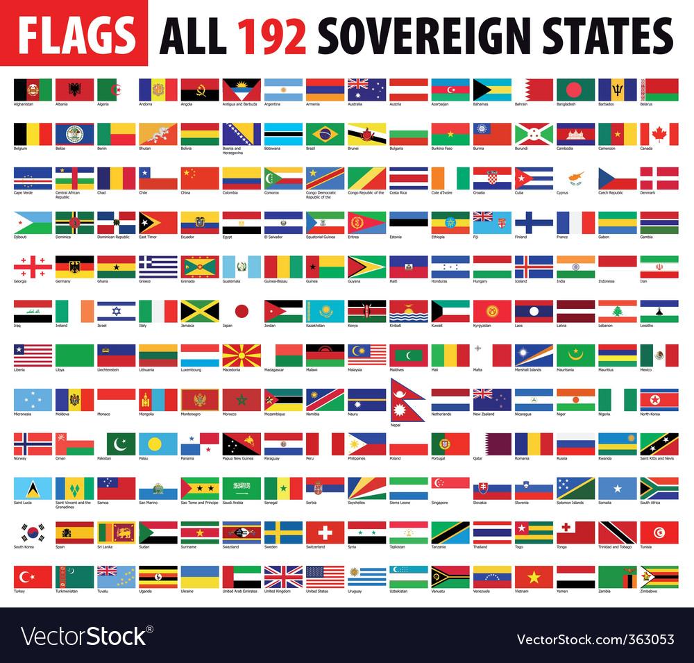 World flags series vector