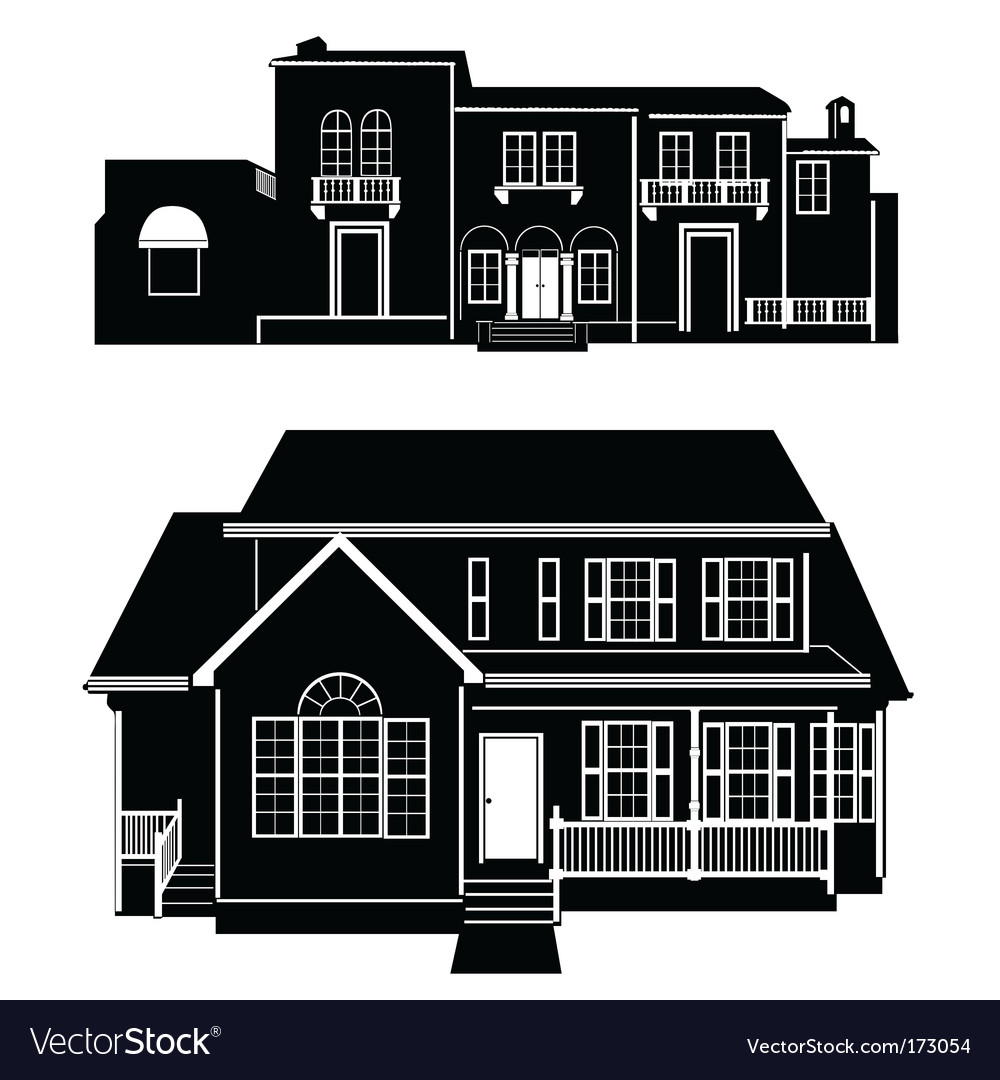 Residences building vector