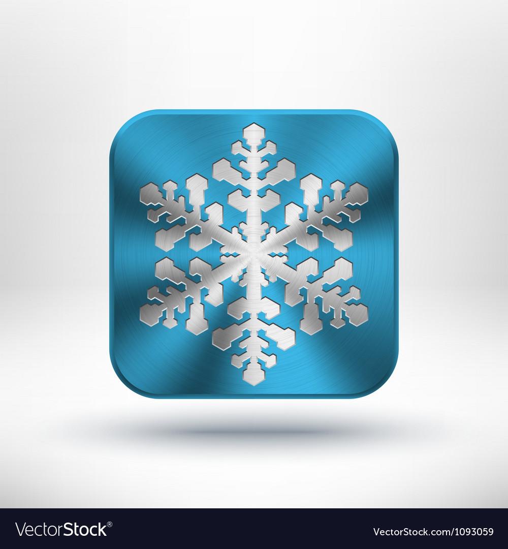 Christmas metal snowflake icon vector
