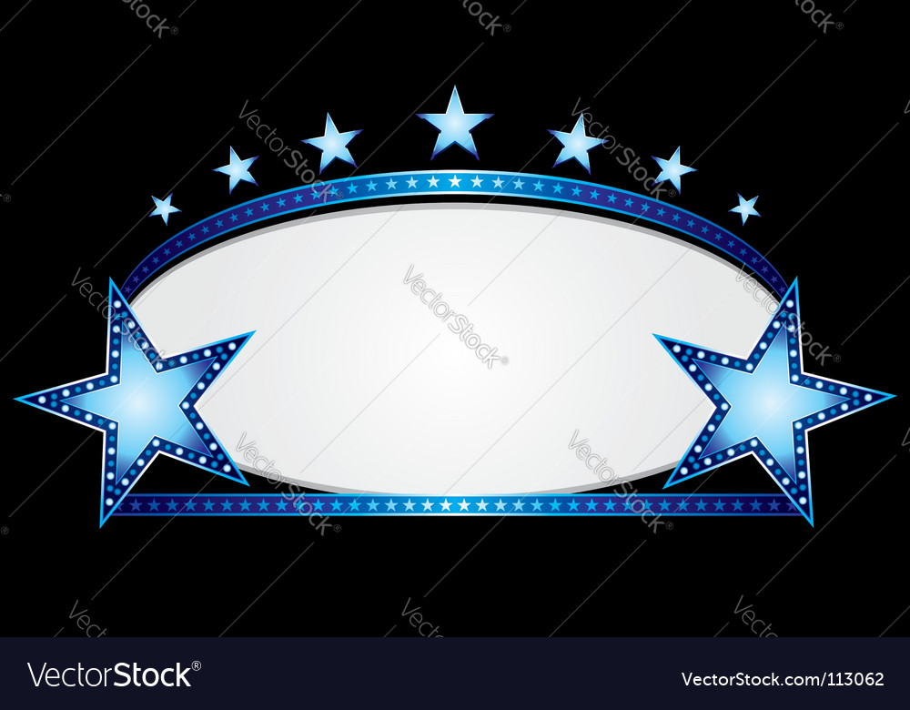 Blue oval vector