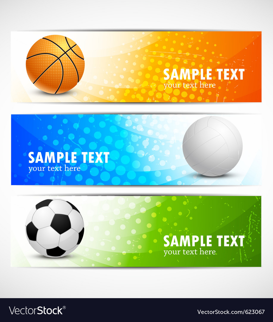 Set of sport banners vector