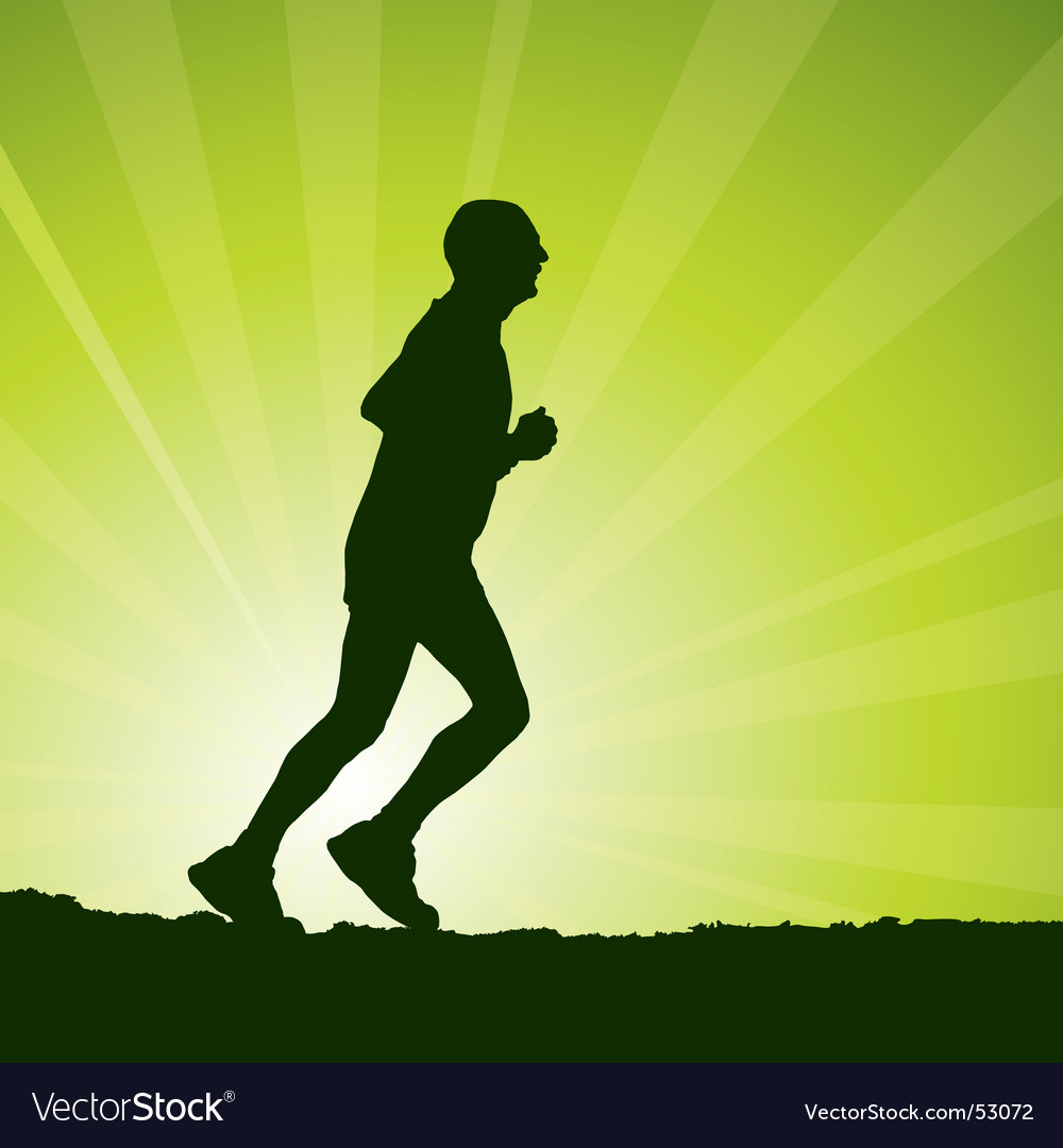 Man jogging vector