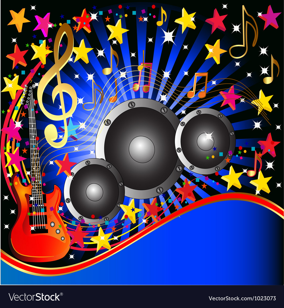 Music rock party background vector