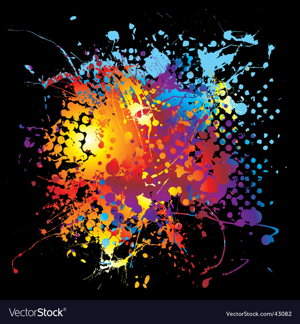 Halftone ink rainbow vector