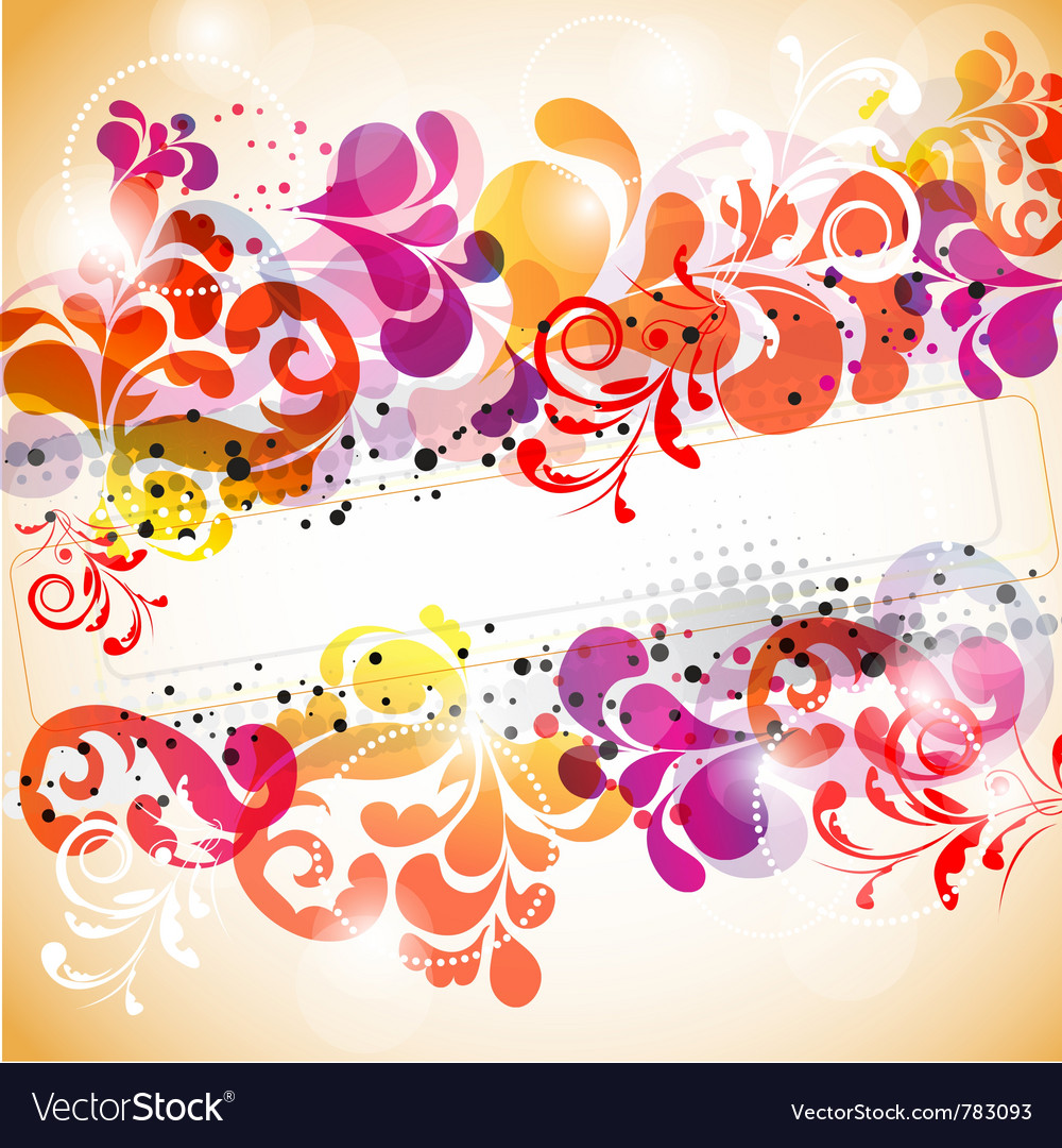 Stylish abstract background with space for text vector