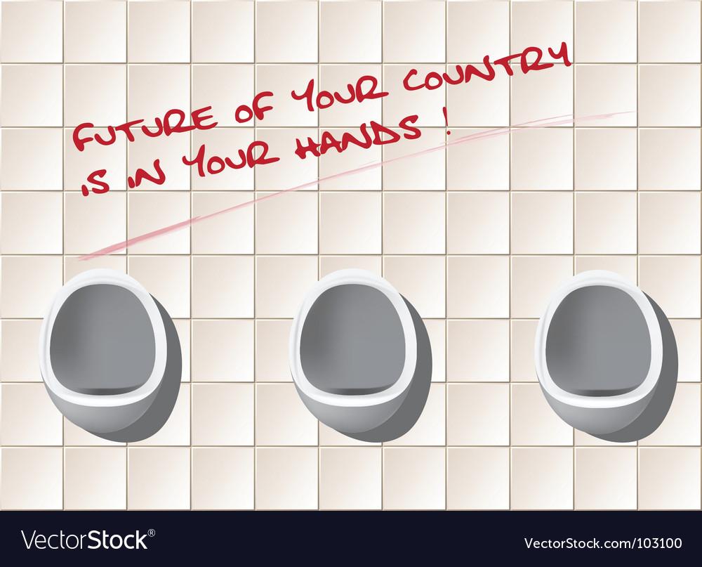 Public toilet vector