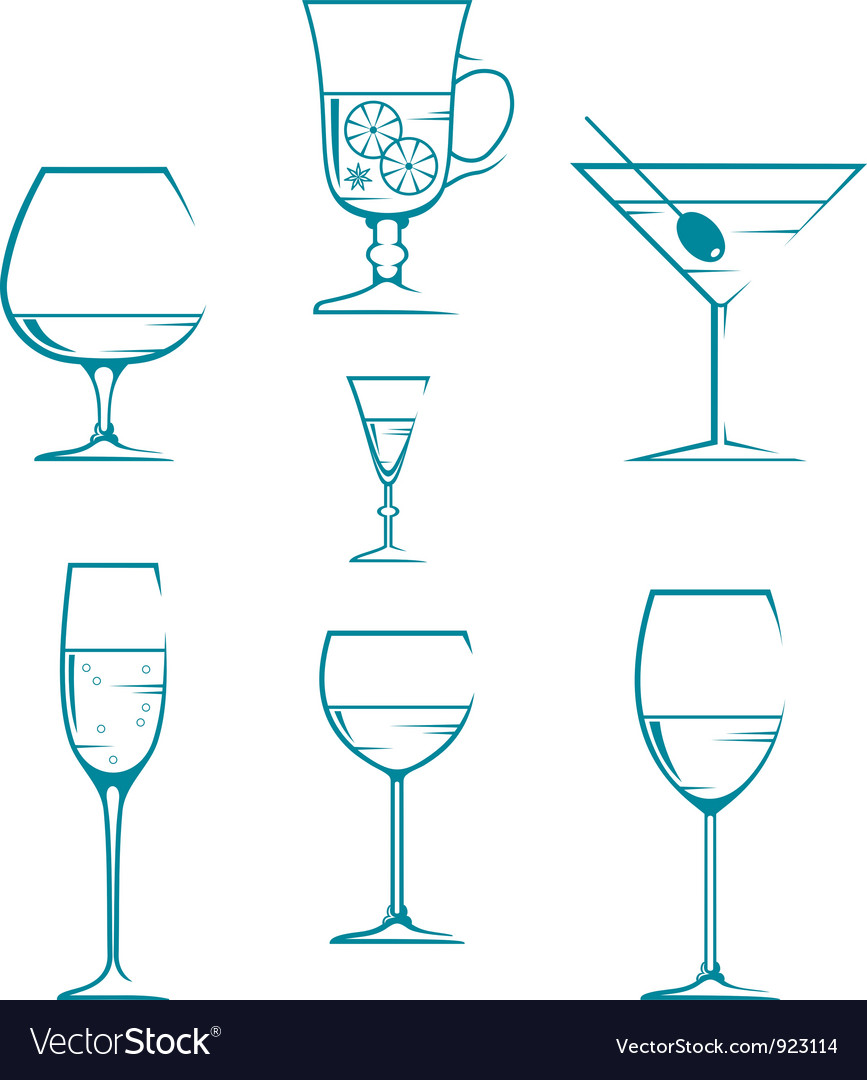 Set of symbols and icons glasses vector