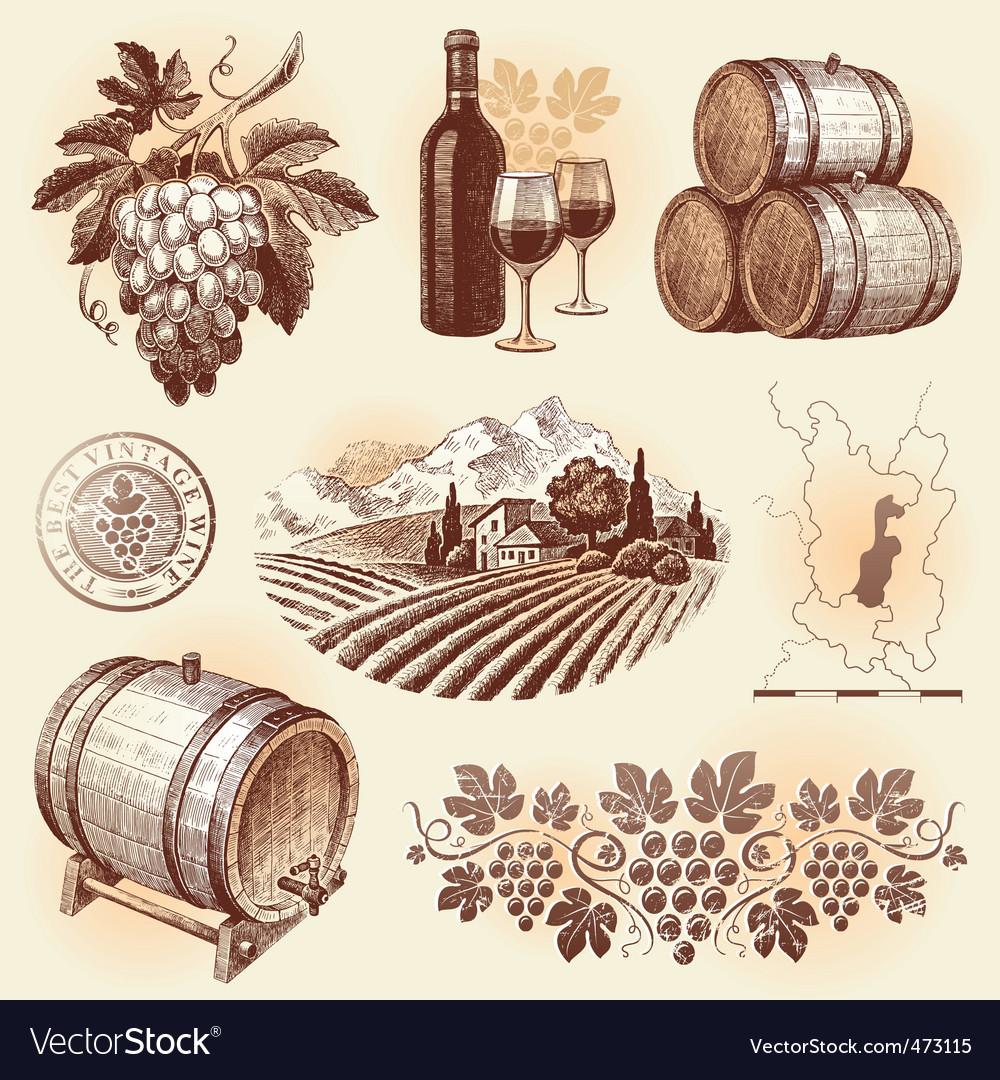 Winemaking vector
