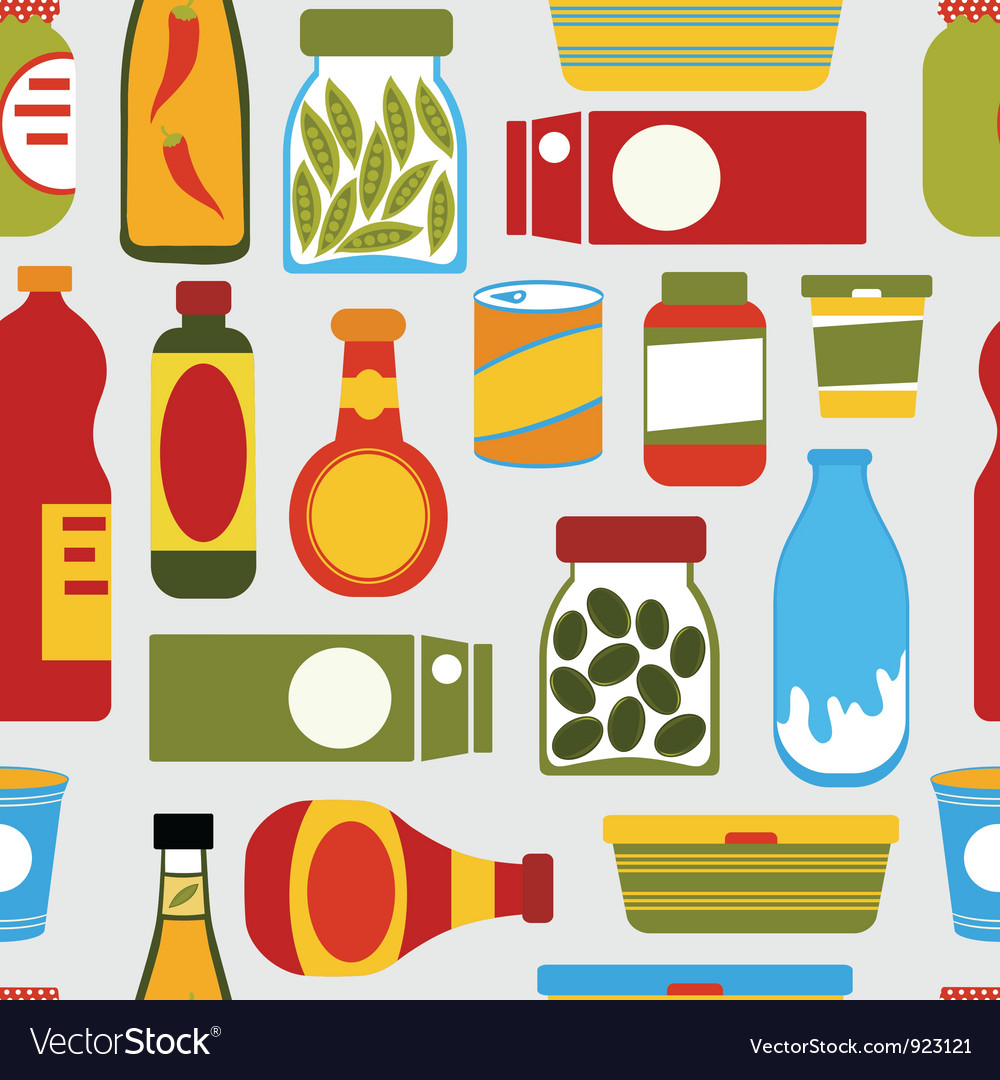 Seamless food background vector