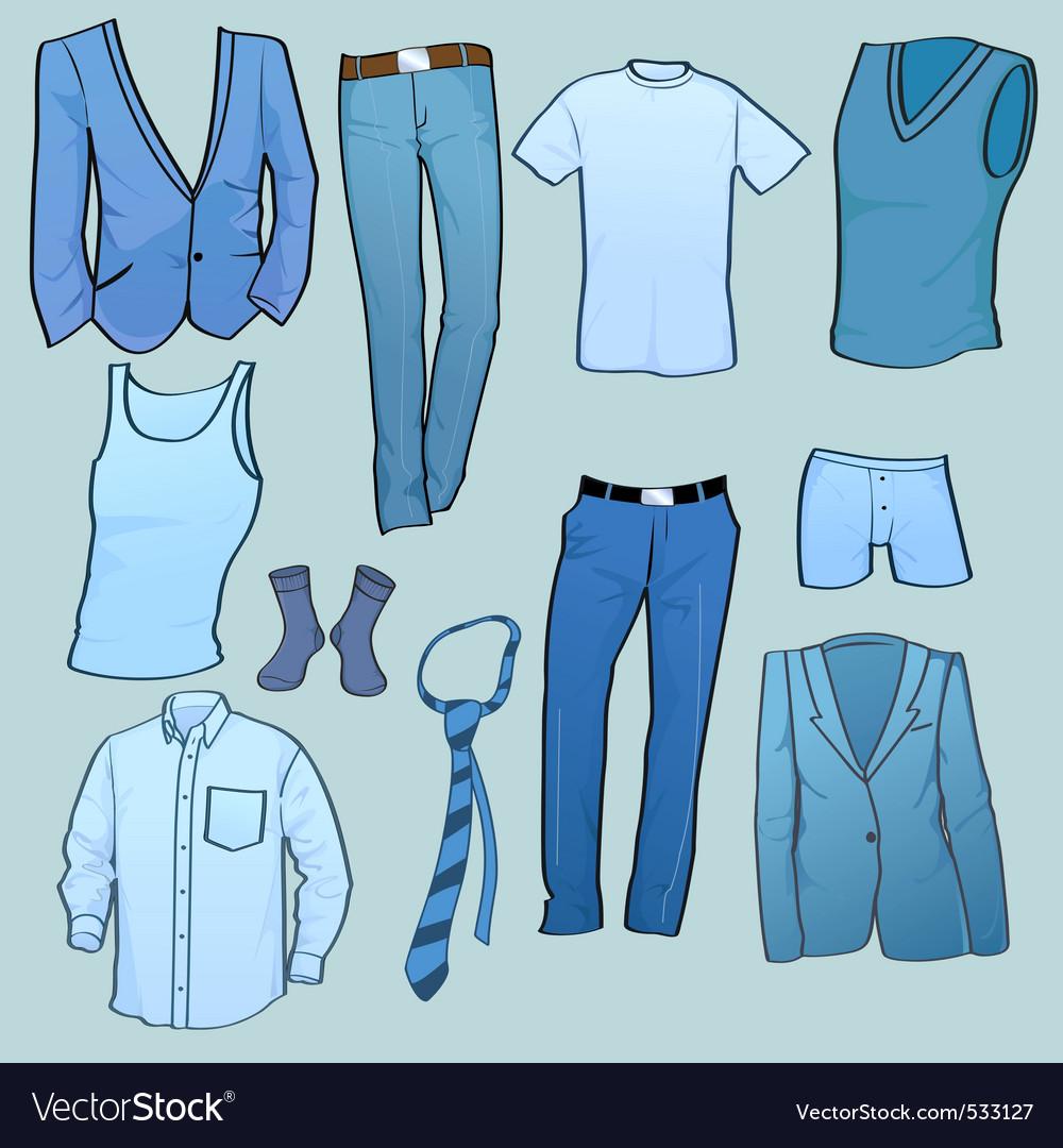 Men clothes vector