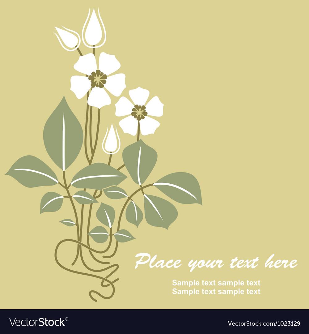 Retro floral vintage vector