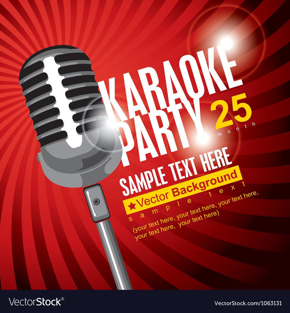 Karaoke poster vector