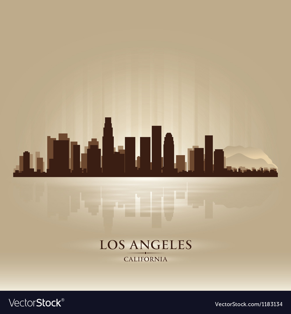Los angeles california skyline city silhouette vector