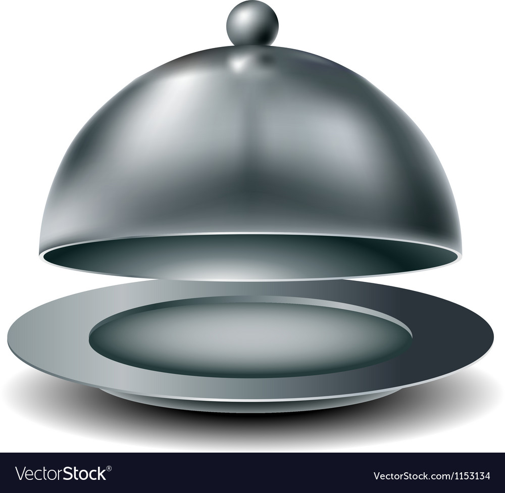 Metal food tray vector