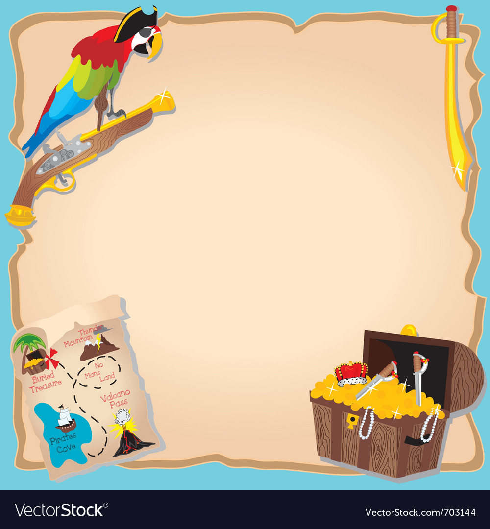 Pirate birthday party vector