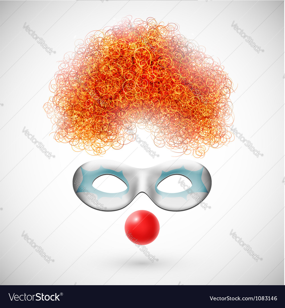 Accessories clown vector