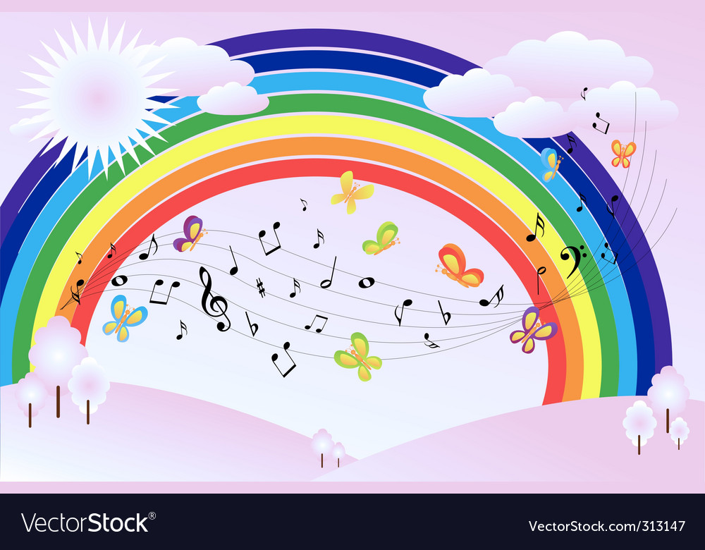 Music landscape vector