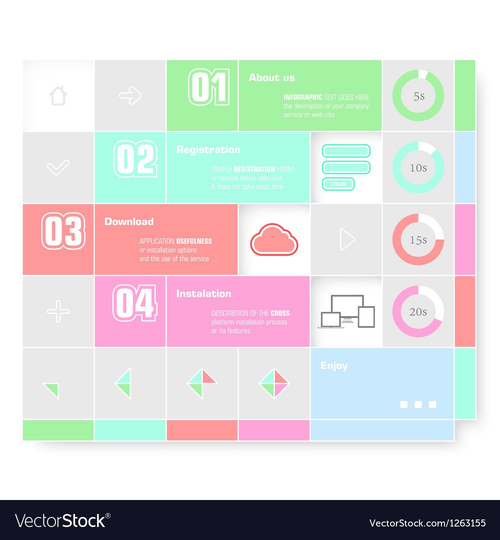 Trendy design infographic vector