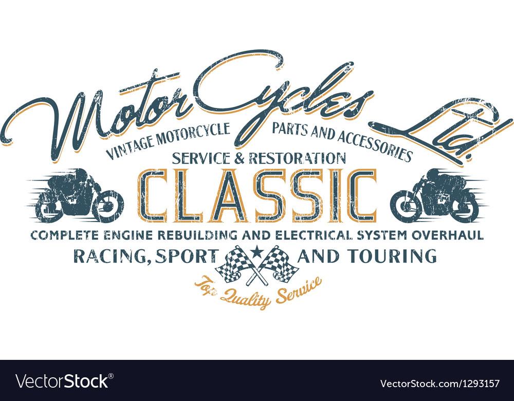 Motorcycle ride vector
