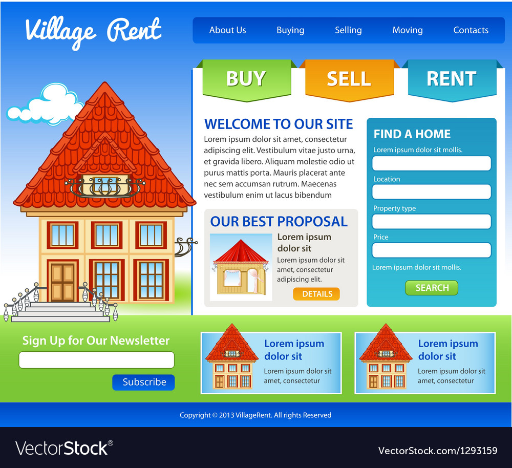 Template for real estate vector